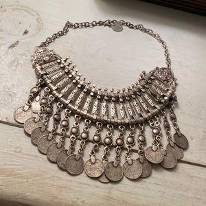 VINTAGE circa 1960 silver necklace